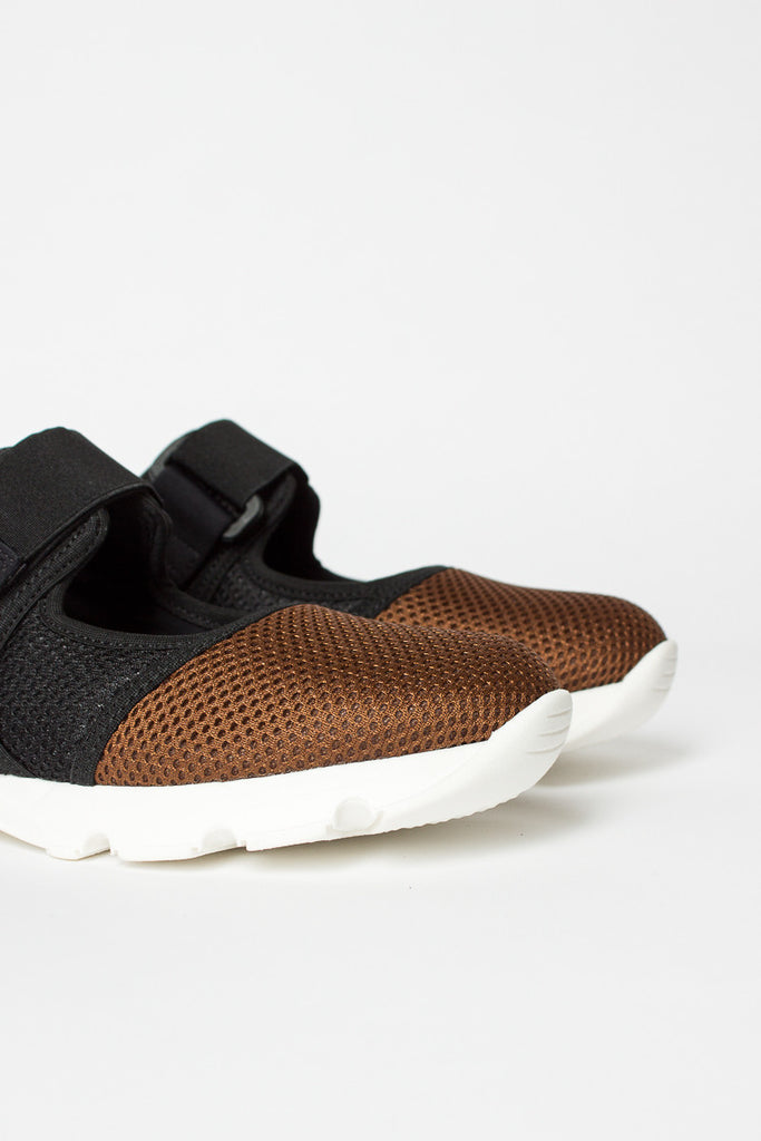 Brown/Black/White Velcro Sneaker
