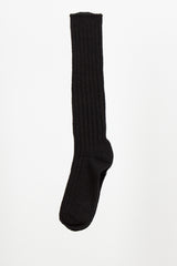 Black Ribbed Sock