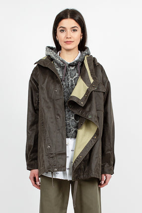 Sonor Shirt Jacket Dark Olive Coated Twill