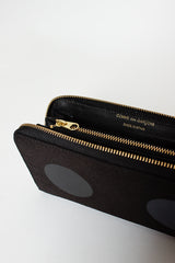 SA0111RD Classic Compartment Purse Black Dot