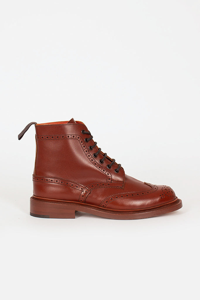 Stephy Marron Antique Brogue Boot