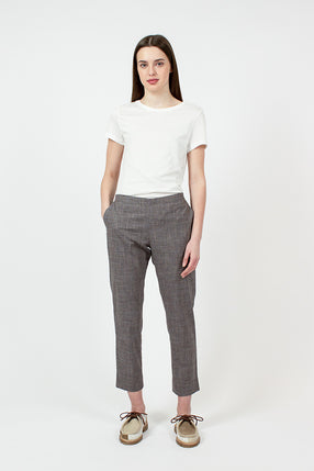 Multi Check Straight Pant