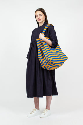 Blue/Yellow Striped Tote
