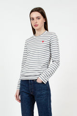 PLAY Grey Stripe LS T-Shirt