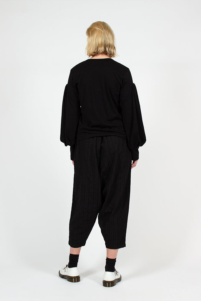 Black Drop Trousers