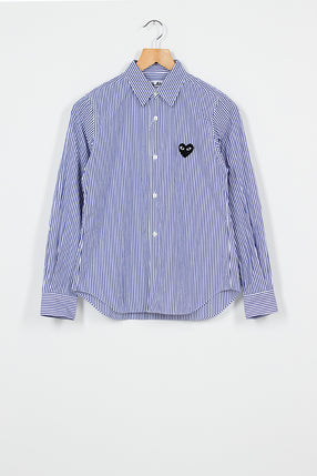 PLAY Blue Wide Stripe Shirt