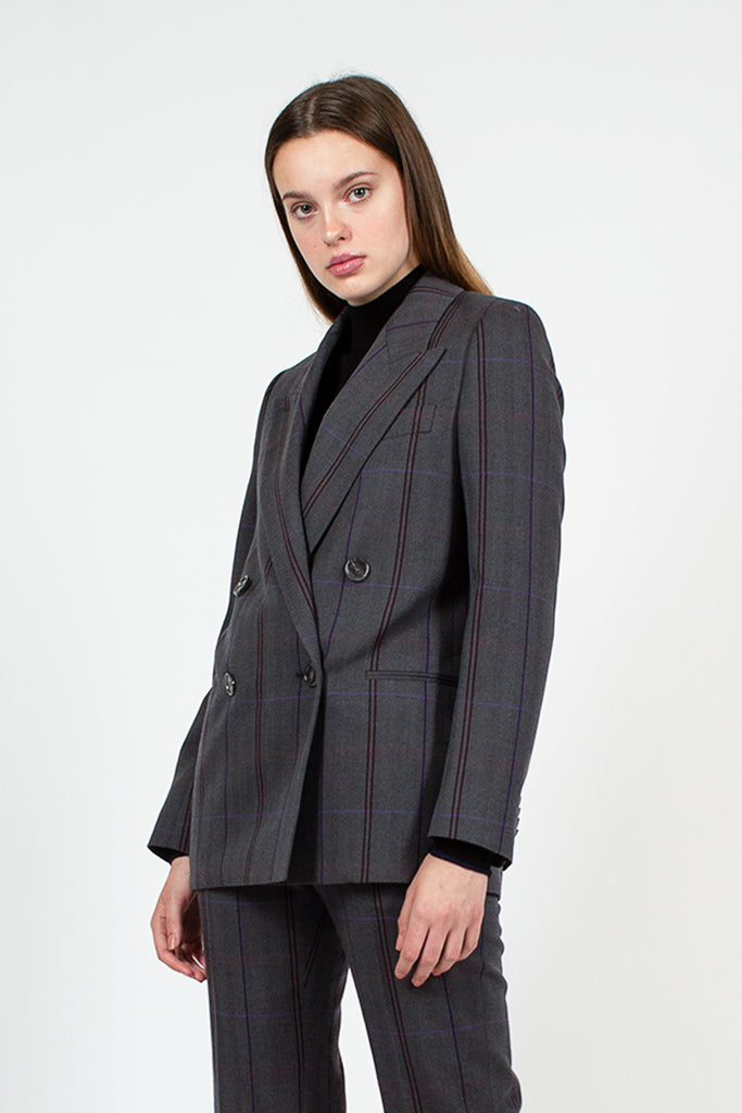 Grey Check Blazer