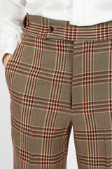Plaid Side Tab Trouser