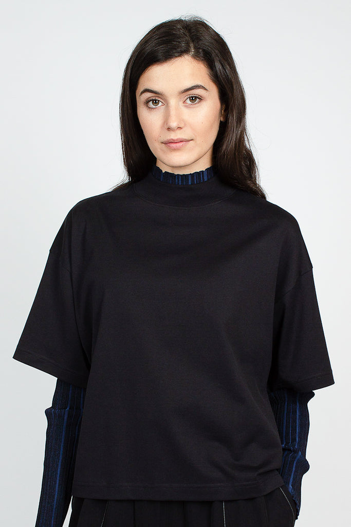 Black High Neck T-Shirt