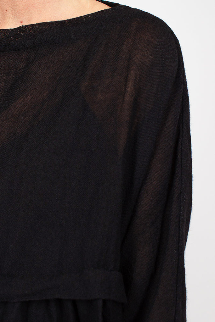 Black Panelled Blouse