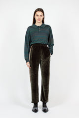 Papillon Velour Green Track Pant