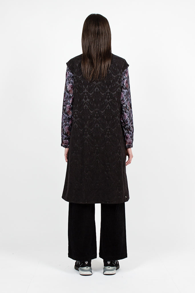 Tunic Dress Big Paisley Jacquard Black