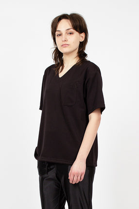 U Neck Popover Top