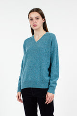 Blue V Neck Jumper