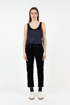 Shorty Navy Velvet Jeans