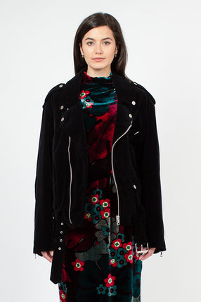 Vorna Black Velvet Jacket