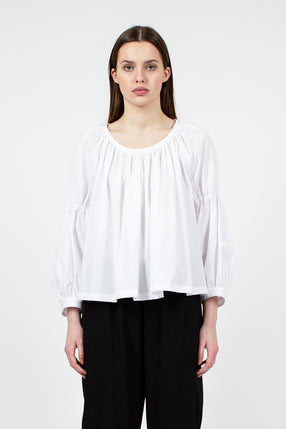 White Pleat Blouse