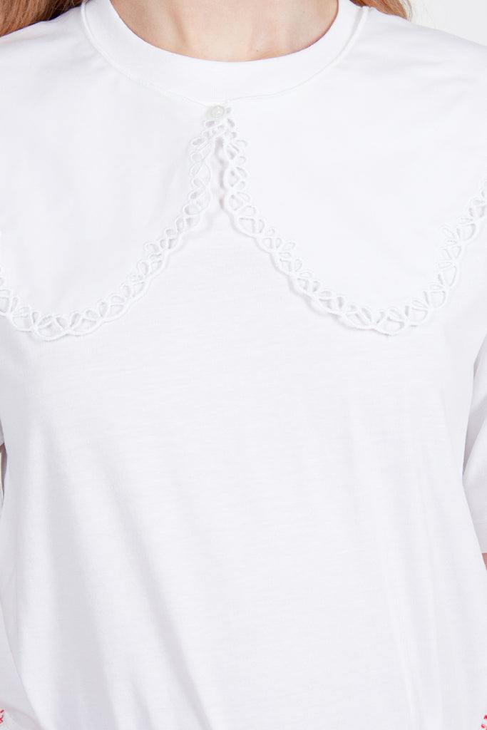 Embroidered Collared T-Shirt