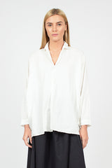 Cream Half Button Shirt