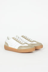 White/Gum Leather Sneaker