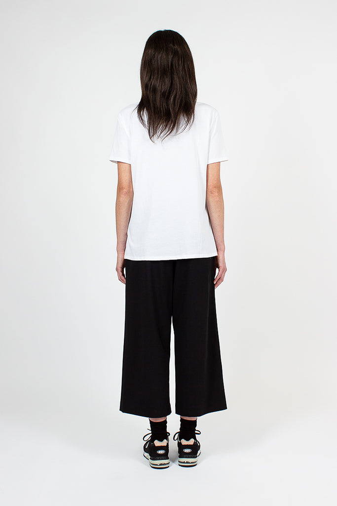 Black Wide Leg Pull On Pant