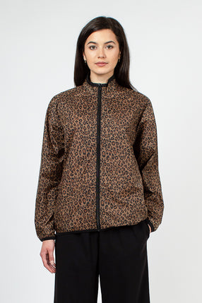 Brown Leopard Windbreaker