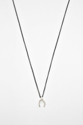 Lucky Bone Necklace With Rose Cut Diamonds