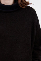 Contrast High Neck Sweater