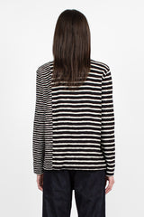 X Sweat Black/Ecru Stripe Organic Cotton