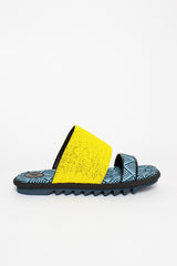 Yellow Contrast Sandals
