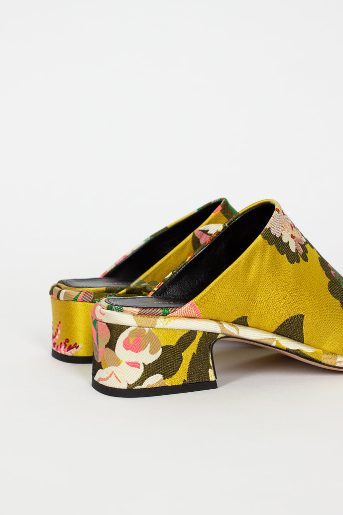 Floral Tapestry Mule