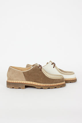 YMC x Paraboot Cream Michael Patchwork Shoe