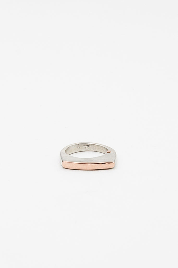 Zakia Silver And Pink Gold Ring