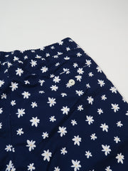 Edmmond Studios Classic Flowers Swimming Shorts in Printed Navy