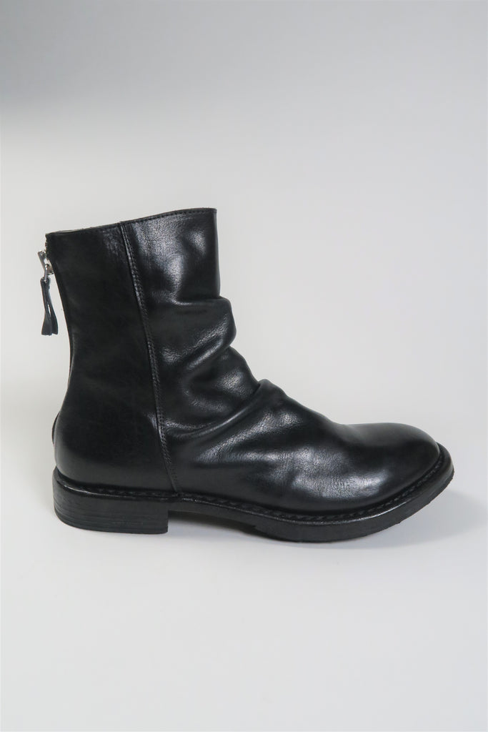 Moma Cusna Heel Zip Ankle Boot in Nero