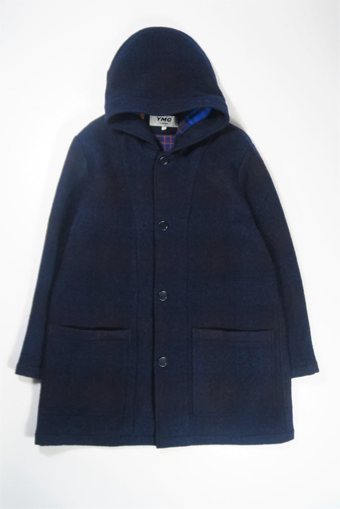 You Must Create (YMC) Beat Generation Duffle Coat in Navy