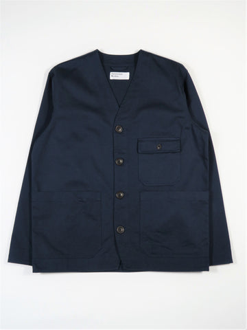 Universal Works Cabin Jacket in Navy Twill