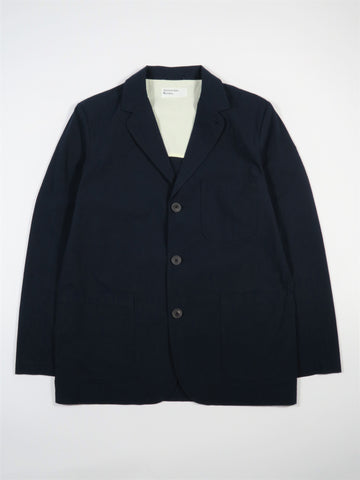Universal Works Three Button Jacket Ripstop Cotton in Navy