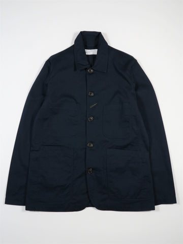 Universal Works Bakers Jacket in Navy Twill