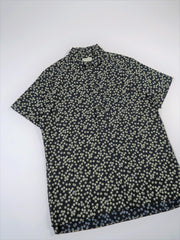 Oliver Spencer Dock Popover Short Sleeve Shirt Maples in Navy