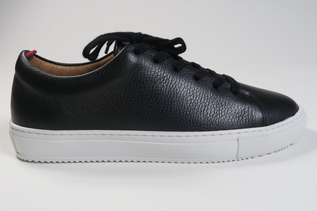 Oliver Spencer Marton Trainer Pebble Leather in Black