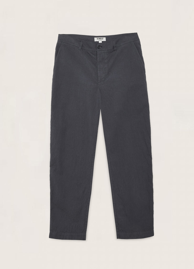 You Must Create (YMC) Hand Me Down Cotton Seersucker Trousers in Navy P4QAO40