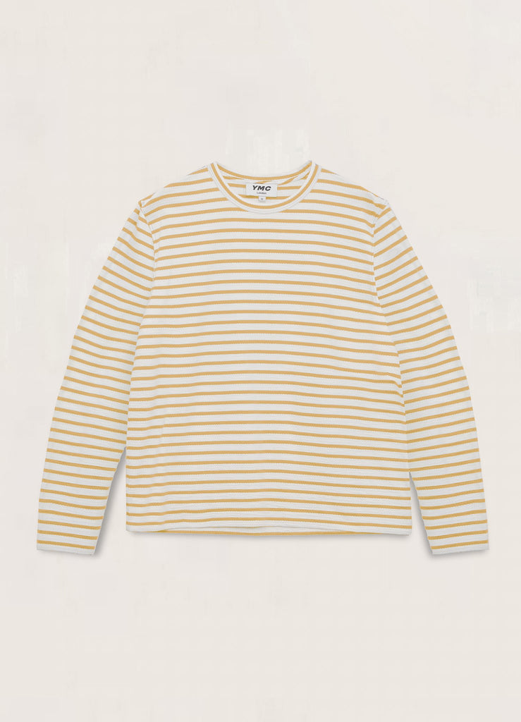 You Must Create (YMC) X Cotton Crepe Jersey Sweatshirt in White/Yellow P7QAD10
