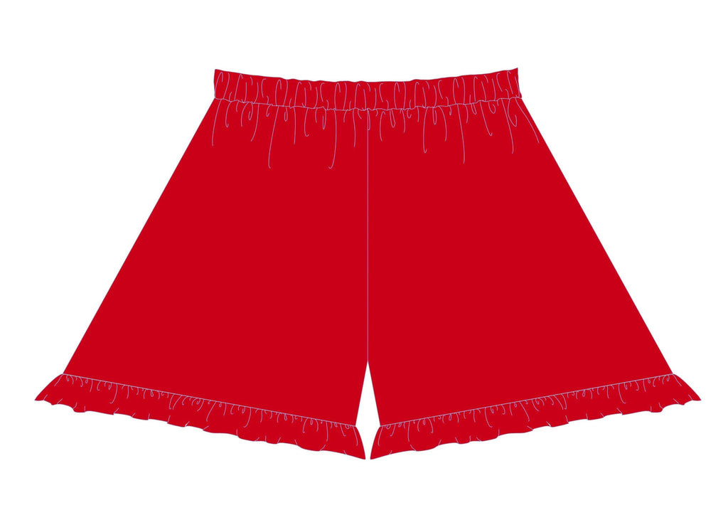 Little Truffle Ruffle Short Red - Three Friends Apparel