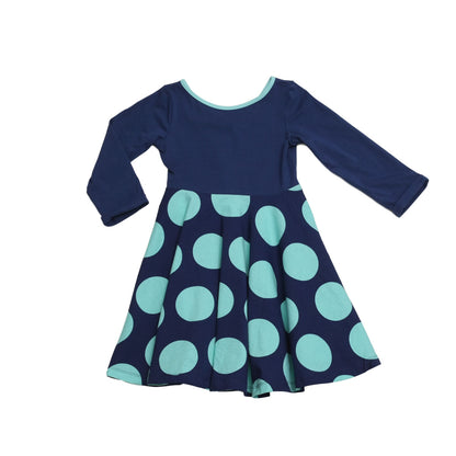 Lula Belle Twirl Dress Navy Rounder