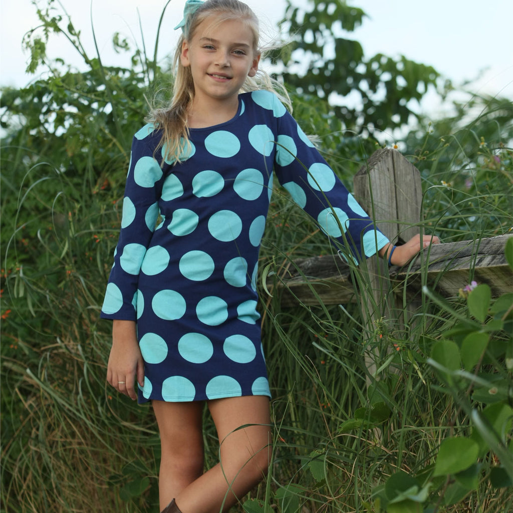 Sweet Tea Dress Navy Rounder - Three Friends Apparel
