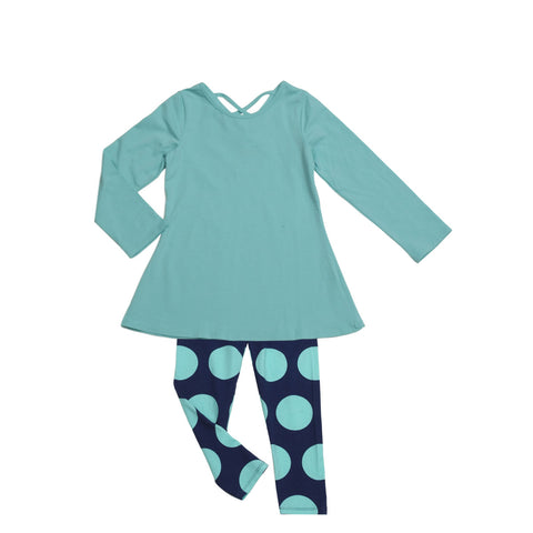 Josie Tunic Legging Set Aqua - Three Friends Apparel