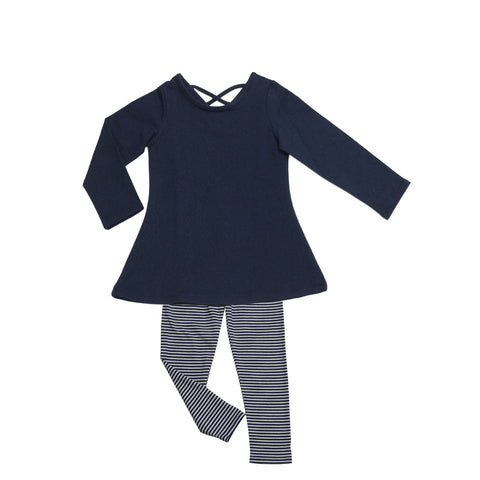 Josie Tunic Legging Set Denim - Three Friends Apparel