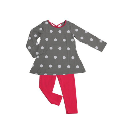 Josie Tunic Legging Set Dove Dot