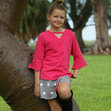 Jackie Skort Set Hot Pink & Dove Dot - Three Friends Apparel